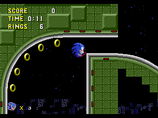 Screenshot Thumbnail / Media File 1 for Sonic the Hedgehog (USA, Europe) [Hack by JcFerggy v20080831] (~Sonic - Pixel Perfect)